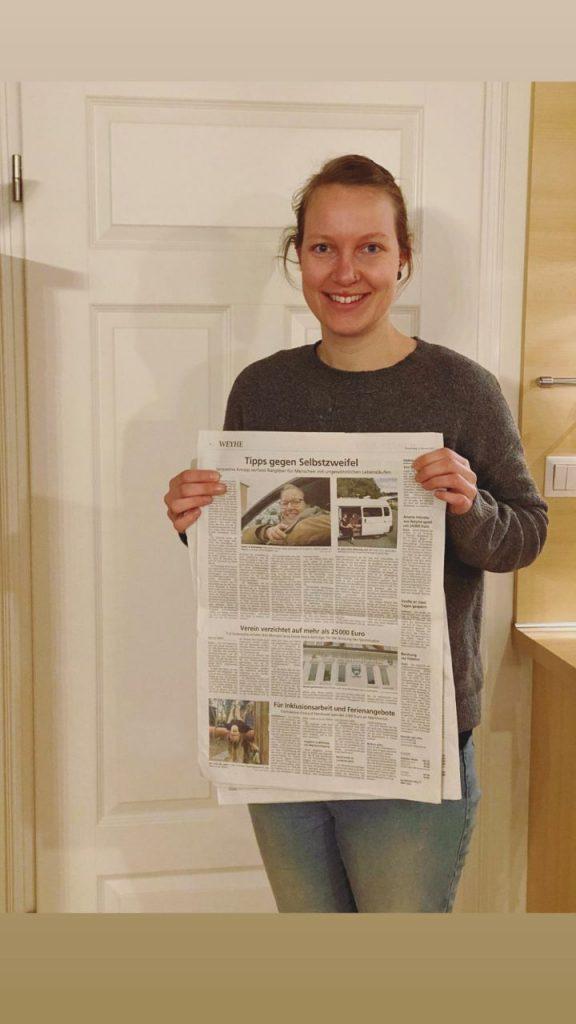 Jacqueline Knopp Zeitungsartikel in der kreiszeitung